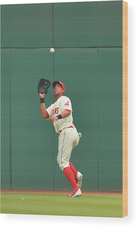 People Wood Print featuring the photograph Michael Brantley and Skip Schumaker by Jamie Sabau