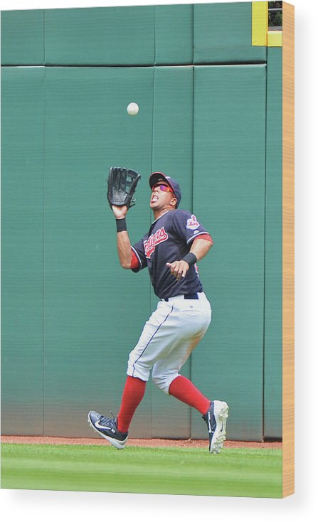 People Wood Print featuring the photograph Michael Brantley by Jamie Sabau