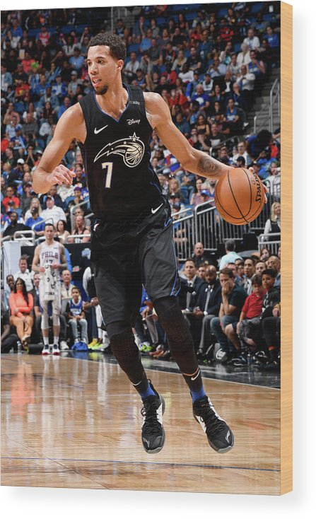 Nba Pro Basketball Wood Print featuring the photograph Michael Carter-williams by Fernando Medina
