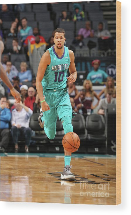 Nba Pro Basketball Wood Print featuring the photograph Michael Carter-williams by Kent Smith