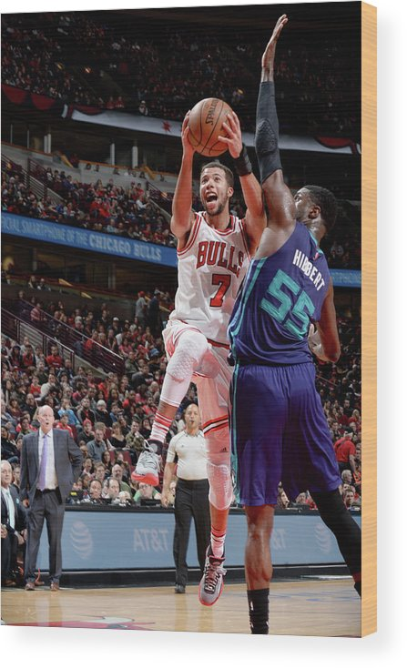 Nba Pro Basketball Wood Print featuring the photograph Michael Carter-williams by Randy Belice