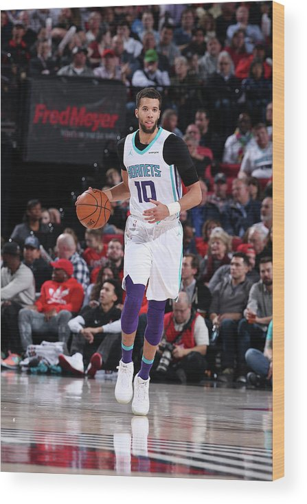 Nba Pro Basketball Wood Print featuring the photograph Michael Carter-williams by Sam Forencich