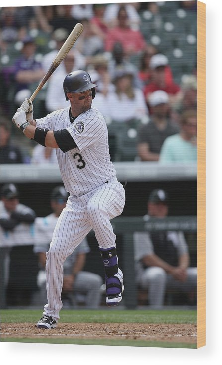 American League Baseball Wood Print featuring the photograph Michael Cuddyer by Doug Pensinger