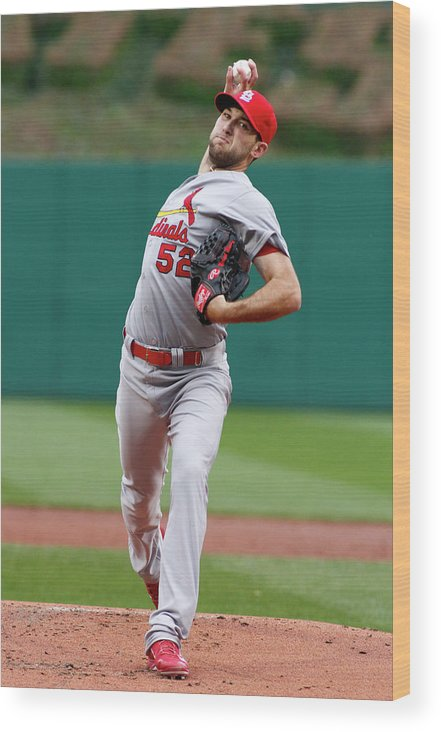 St. Louis Cardinals Wood Print featuring the photograph Michael Wacha by Justin K. Aller
