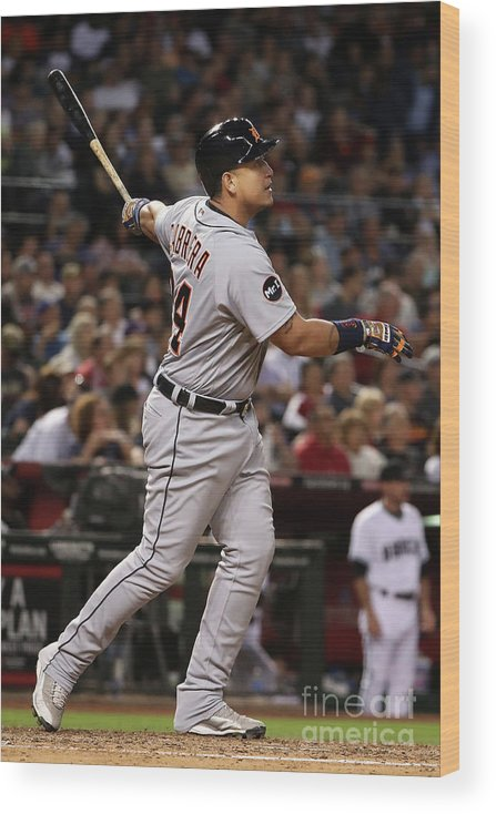 People Wood Print featuring the photograph Miguel Cabrera by Christian Petersen
