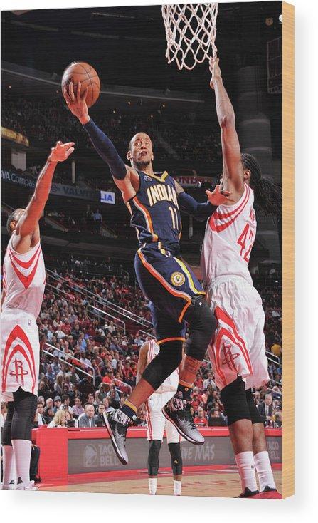 Nba Pro Basketball Wood Print featuring the photograph Monta Ellis by Bill Baptist