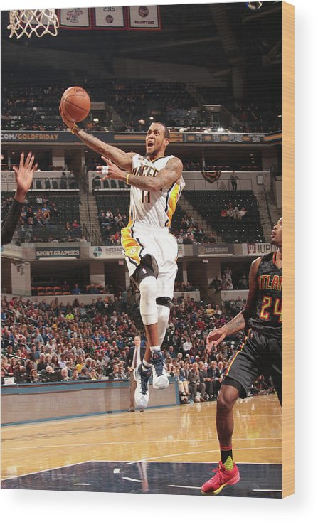 Nba Pro Basketball Wood Print featuring the photograph Monta Ellis by Ron Hoskins