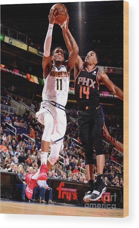 Nba Pro Basketball Wood Print featuring the photograph Monte Morris by Barry Gossage