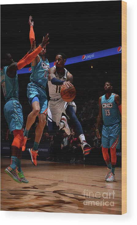 Nba Pro Basketball Wood Print featuring the photograph Monte Morris by Bart Young
