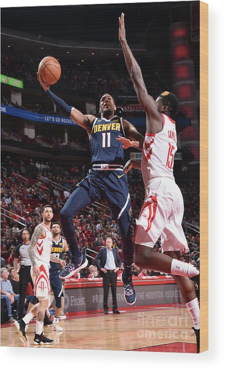 Nba Pro Basketball Wood Print featuring the photograph Monte Morris by Bill Baptist