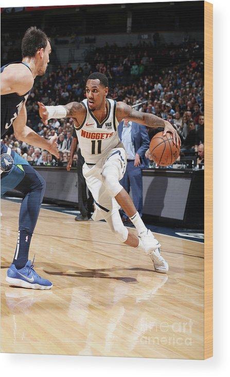 Nba Pro Basketball Wood Print featuring the photograph Monte Morris by David Sherman