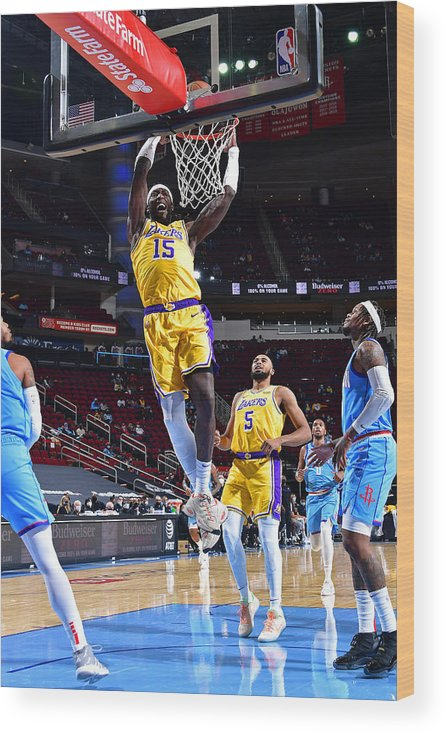 Nba Pro Basketball Wood Print featuring the photograph Montrezl Harrell by Cato Cataldo