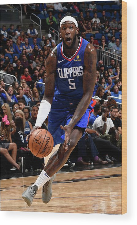 Nba Pro Basketball Wood Print featuring the photograph Montrezl Harrell by Fernando Medina