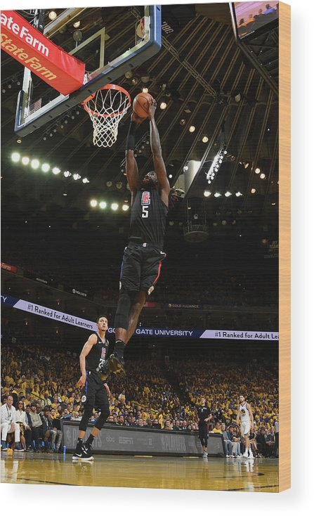 Playoffs Wood Print featuring the photograph Montrezl Harrell by Noah Graham
