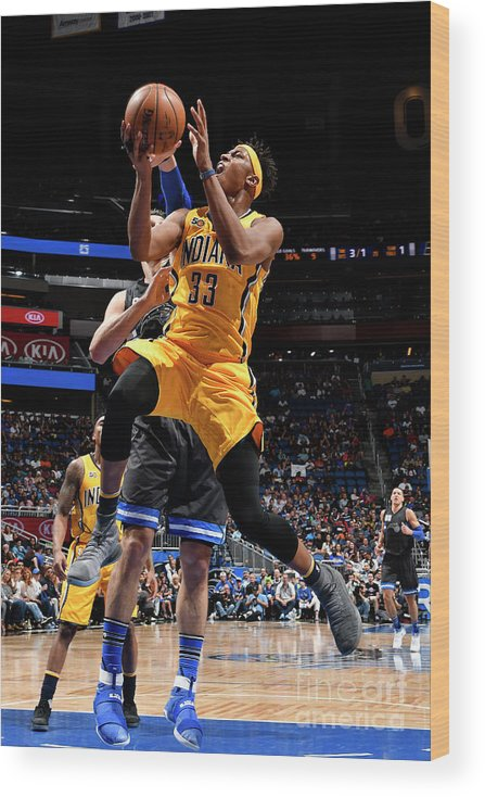 Nba Pro Basketball Wood Print featuring the photograph Myles Turner by Fernando Medina