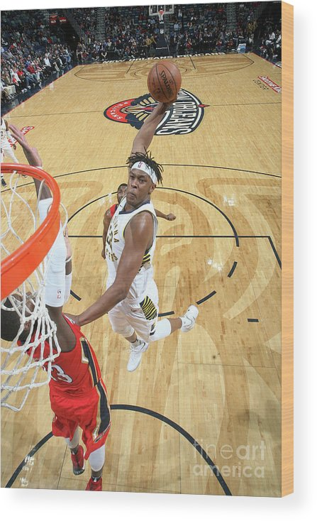 Smoothie King Center Wood Print featuring the photograph Myles Turner by Layne Murdoch