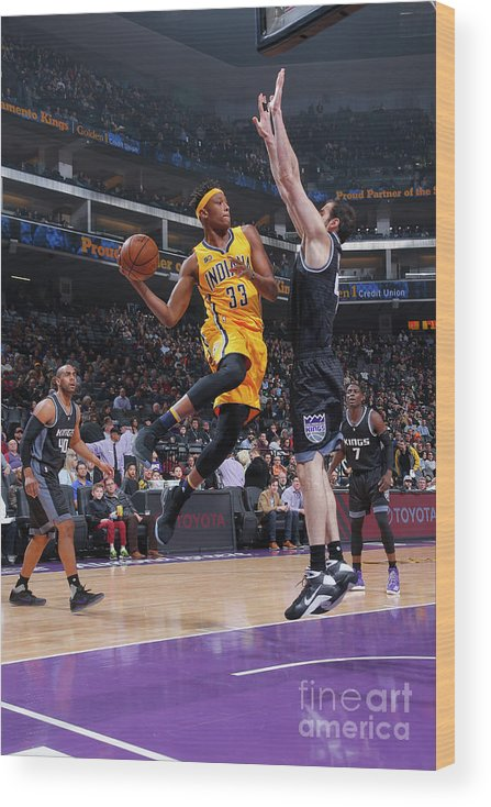 Nba Pro Basketball Wood Print featuring the photograph Myles Turner by Rocky Widner