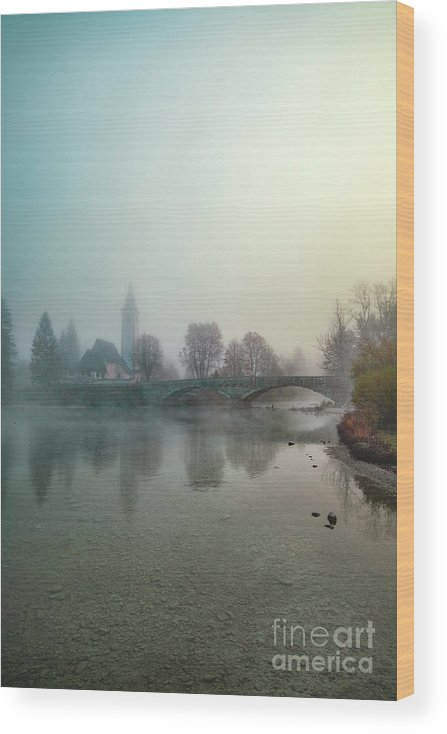 Kremsdorf Wood Print featuring the photograph Mystery By The Lake by Evelina Kremsdorf