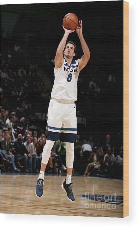 Nba Pro Basketball Wood Print featuring the photograph Nemanja Bjelica by David Sherman