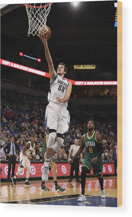 Nba Pro Basketball Wood Print featuring the photograph Nemanja Bjelica by Jordan Johnson