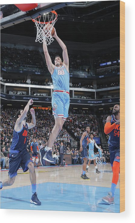 Nba Pro Basketball Wood Print featuring the photograph Nemanja Bjelica by Rocky Widner