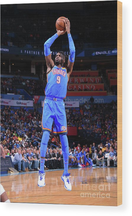 Nba Pro Basketball Wood Print featuring the photograph Nerlens Noel by Bill Baptist