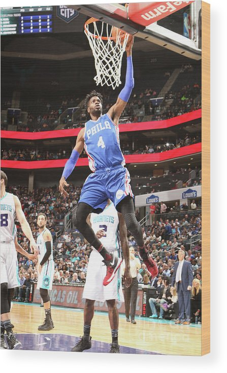 Nba Pro Basketball Wood Print featuring the photograph Nerlens Noel by Brock Williams-smith