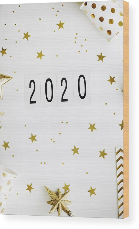 Streamer Wood Print featuring the photograph New Year's Eve by Emilija Manevska