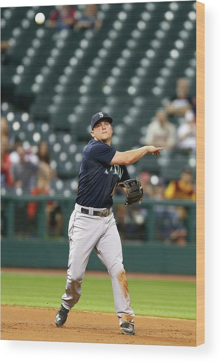 People Wood Print featuring the photograph Nick Swisher and Kyle Seager by Kirk Irwin