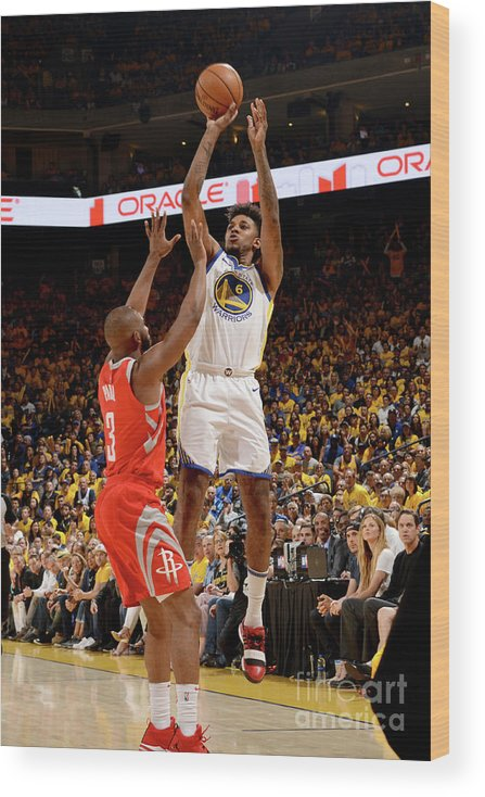 Playoffs Wood Print featuring the photograph Nick Young by Noah Graham