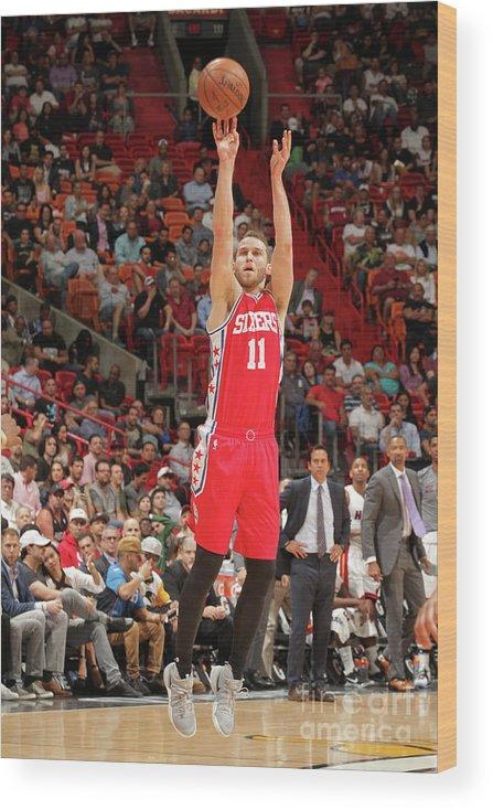 Nba Pro Basketball Wood Print featuring the photograph Nik Stauskas by Oscar Baldizon