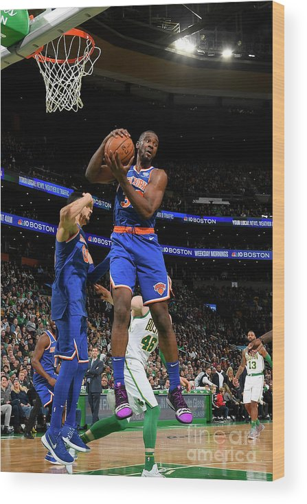 Nba Pro Basketball Wood Print featuring the photograph Noah Vonleh by Brian Babineau