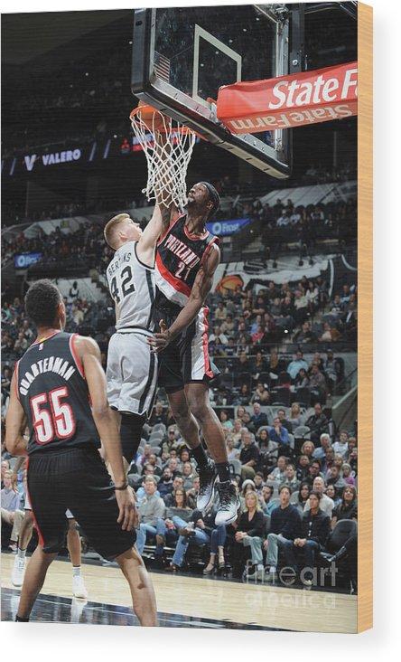 Nba Pro Basketball Wood Print featuring the photograph Noah Vonleh by Mark Sobhani