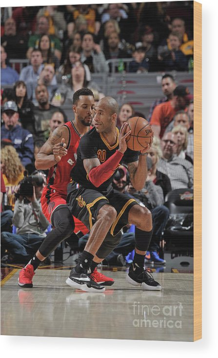 Nba Pro Basketball Wood Print featuring the photograph Norman Powell and Dahntay Jones by David Liam Kyle