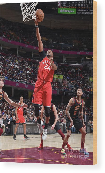 Nba Pro Basketball Wood Print featuring the photograph Norman Powell by David Liam Kyle