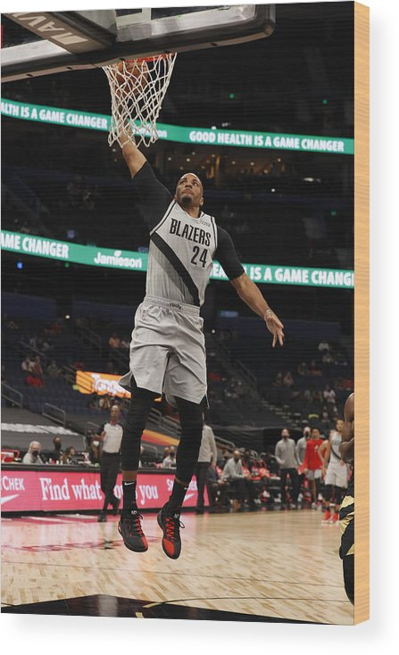 Nba Pro Basketball Wood Print featuring the photograph Norman Powell by Scott Audette