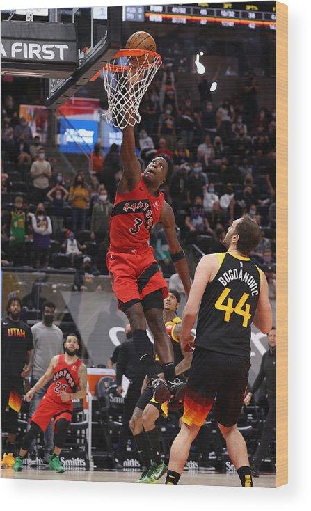 Nba Pro Basketball Wood Print featuring the photograph Og Anunoby by Melissa Majchrzak