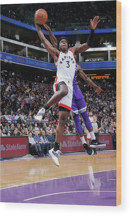 Nba Pro Basketball Wood Print featuring the photograph Og Anunoby by Rocky Widner