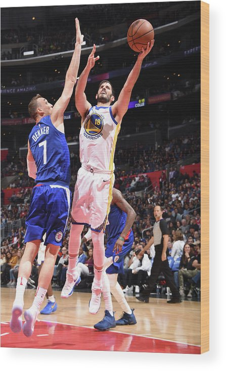 Nba Pro Basketball Wood Print featuring the photograph Omri Casspi by Andrew D. Bernstein