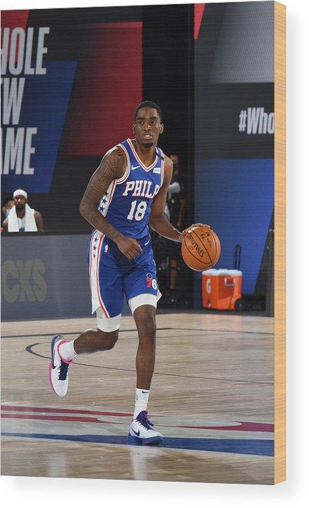 Nba Pro Basketball Wood Print featuring the photograph Orlando Magic v Philadelphia 76ers by Jesse D. Garrabrant