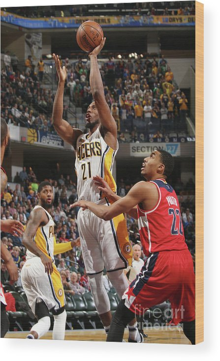 Nba Pro Basketball Wood Print featuring the photograph Otto Porter by Gary Dineen