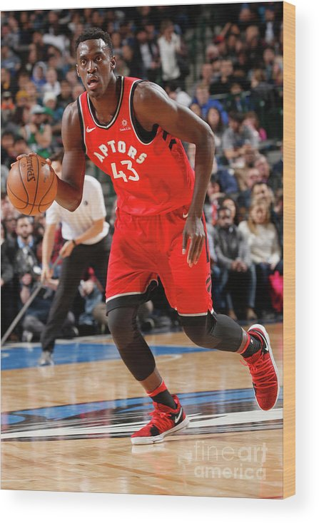 Nba Pro Basketball Wood Print featuring the photograph Pascal Siakam by Glenn James