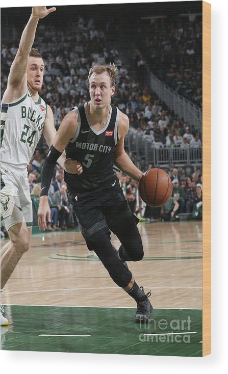 Playoffs Wood Print featuring the photograph Pat Connaughton and Luke Kennard by Gary Dineen