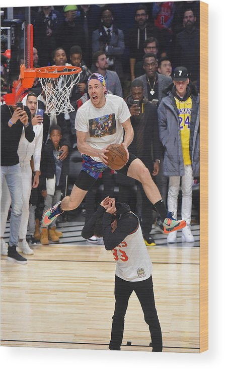 Nba Pro Basketball Wood Print featuring the photograph Pat Connaughton by Bill Baptist