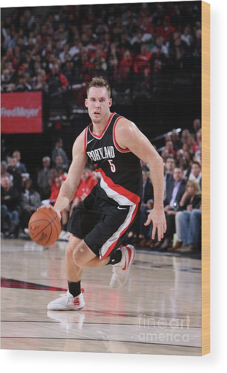 Nba Pro Basketball Wood Print featuring the photograph Pat Connaughton by Sam Forencich