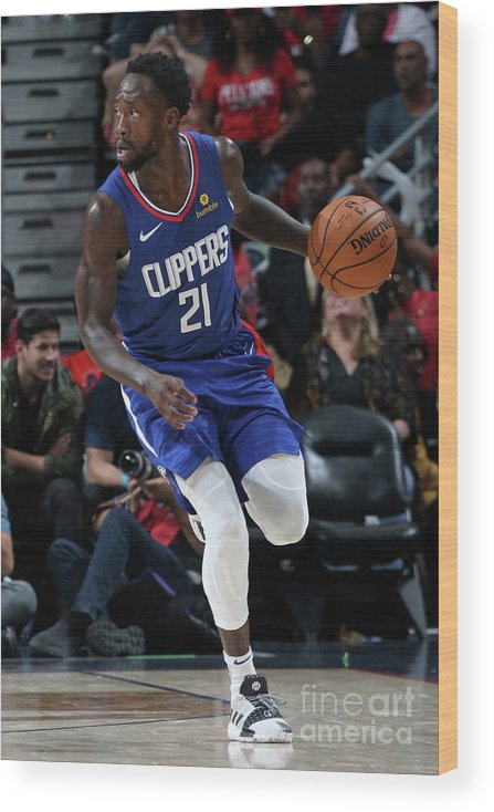 Smoothie King Center Wood Print featuring the photograph Patrick Beverley by Layne Murdoch Jr.