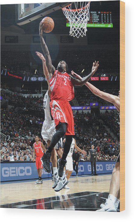 Nba Pro Basketball Wood Print featuring the photograph Patrick Beverley by Mark Sobhani