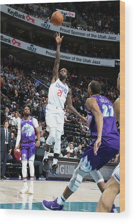 Nba Pro Basketball Wood Print featuring the photograph Patrick Beverley by Melissa Majchrzak