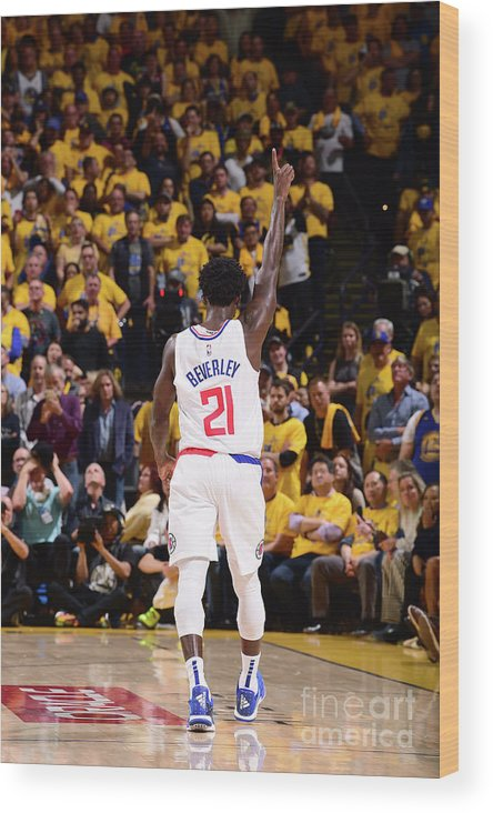 Playoffs Wood Print featuring the photograph Patrick Beverley by Noah Graham