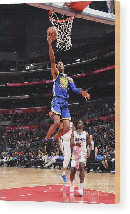 Nba Pro Basketball Wood Print featuring the photograph Patrick Mccaw by Andrew D. Bernstein